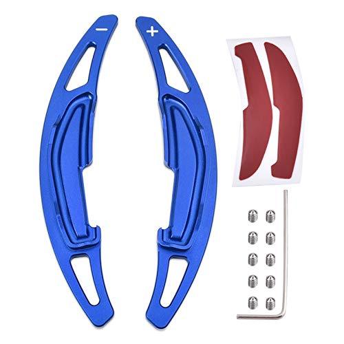 DPFXNN Verlängerung Shifter Klinge Auto-Lenkrad-Verschiebungs-Paddel-Shifter-Erweiterung für BMW M2 M3 M4 M5 M6 x5 x6 Aluminiumlegierungs-Schaltpaddel (Color : Blau)