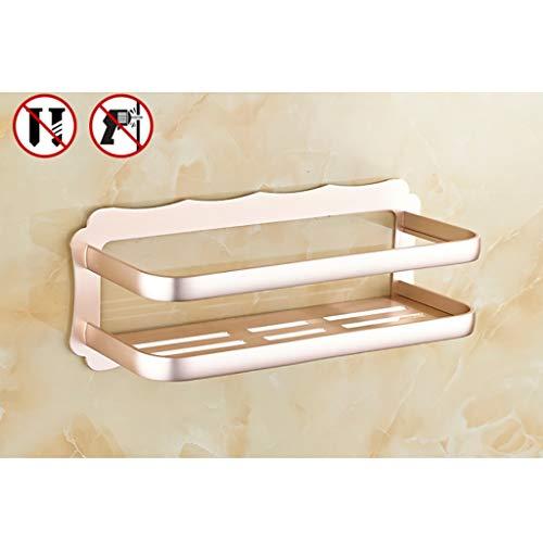 Wall Shelf Floating Shelf Wandrek, doucheplank, badkamerrek van aluminium - douchehouder wandmontage voor wc-keuken zwevende planken 40 cm C