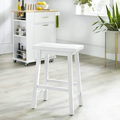 TMS 24Inch Arizona Sadde Stool White