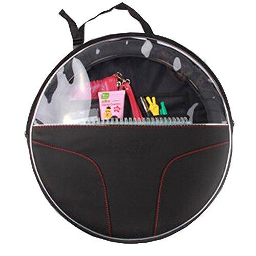 Auto Supplies Voiture Organiseur pour dossier de siège de suspension type circulaire Sac de rangement, Noir