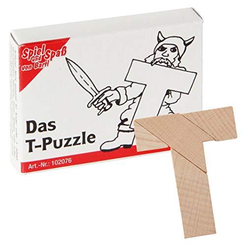 Bartl 102076 Mini-Holz-Puzzle Das T-Puzzle aus 4 kleinen Holzteilen