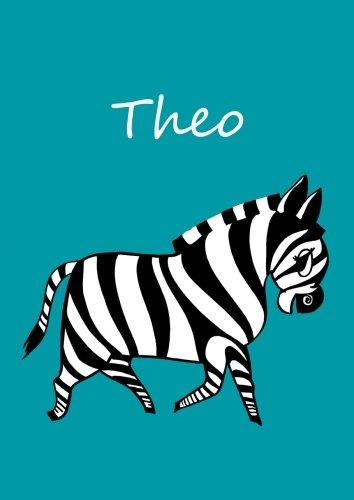 Malbuch / Notizbuch / Tagebuch - Theo: DIN A4 - blanko - Zebra