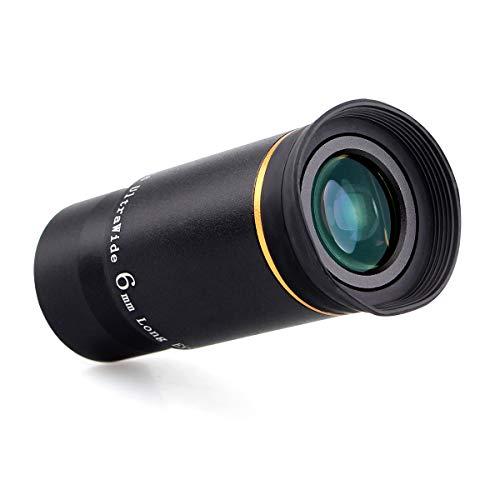 "Svbony Teleskop Okular 1.25\"", Ultraweitwinkel Okular 6mm, Mehrfachvergütet Grüner Film 66 Grad Okular für Teleskop"