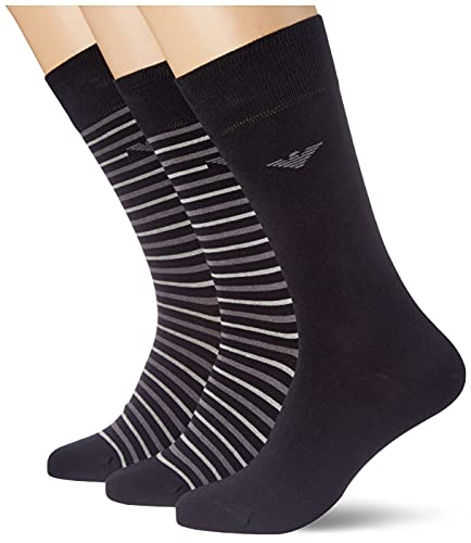 Emporio Armani Underwear Mens Short Socks Set 3Pack Casual, Black, TU