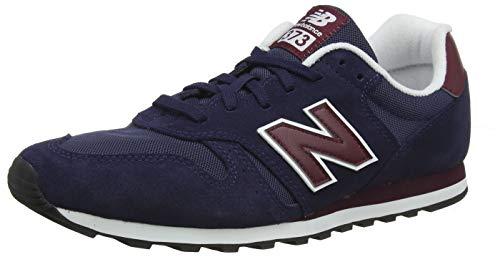 New Balance 373, Zapatillas para Hombre, Azul (Pigment/Burgundy Bup), 44.5 EU