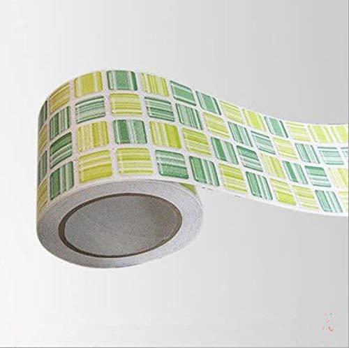 Bathroom Kitchen Wall Waterproof Wallpaper Roll Sticker /3d Mosaic Sticker Borders Tile Stickers/Fashion Home Decor Sticker Style1
