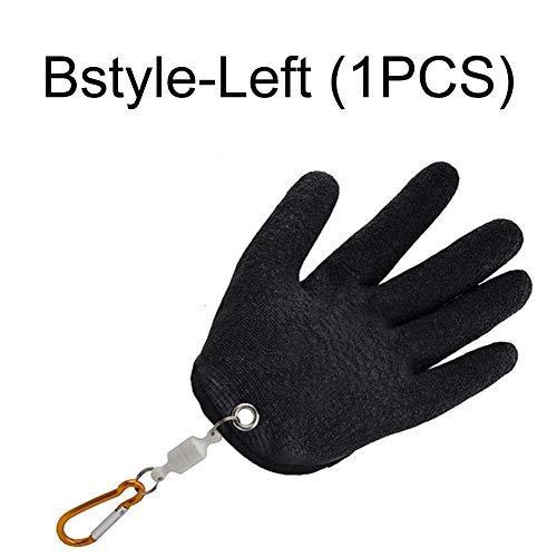 Depruies Angelhandschuhe Einhand-Anti-Rutsch-Schutzhandschuhe für wasserdichte durchstichsichere, schnittfeste Fanghandschuhe mit Magnetverbindung für Angler