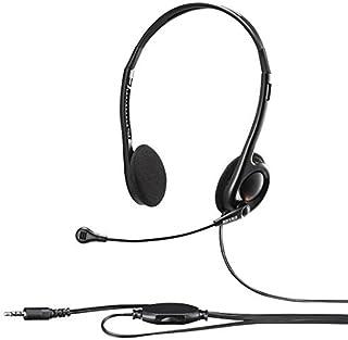 バッファロー BSHSHCS100BK 両耳ヘッドバンド式ヘッドセット 4極 ブラック