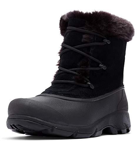 Sorel Damen Snow Angel Wasserdicht Isoliert Stiefel mit Kunstfell Manschette, Schwarz (schwarz), 37 EU