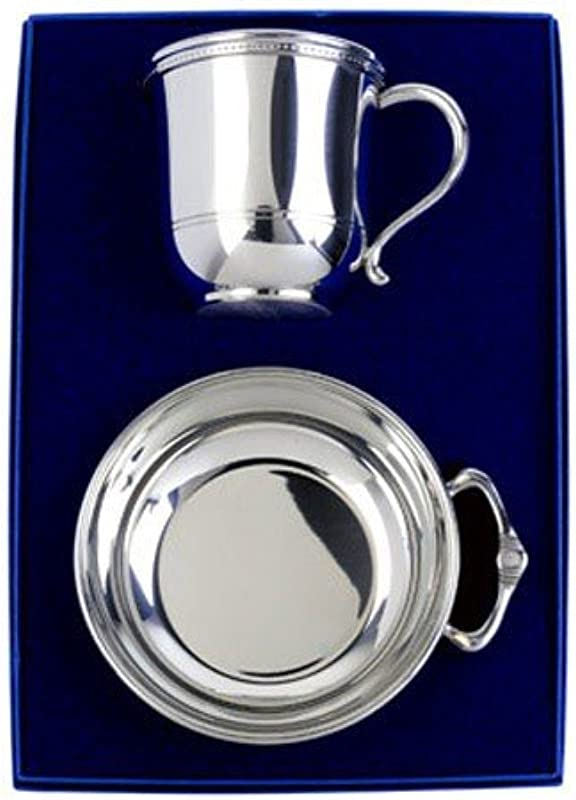 Salisbury Pewter Engravable Images Cup And Porringer Gift Se