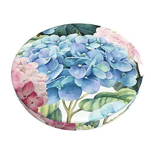 Runder Kissenbezug Für Barstühle Pink Blue Hydrangea Barhocker Sitzbezüge Elastic Stool Schonbezug