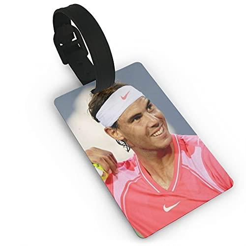 Rafael Nadal Etiquetas de equipaje de viaje Etiquetas de equipaje de equipaje Etiquetas de maleta Titular de tarjeta de visita para viaje de negocios etiqueta de equipaje PVC 2*3.7 pulgadas