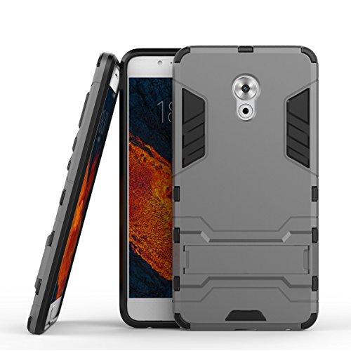 Tasche für Meizu Pro 6 Plus Hülle, Ycloud das stärkste Handy Shock Proof Armor Dual Schutzabdeckung Hochfeste PC Kunststoffoberschale Shockproof mit Halterung Schutzabdeckung Grau