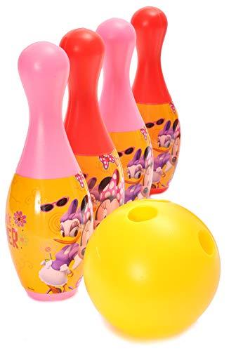 Set gioco 6 birilli Disney Minnie (h 21cm) in plastica con 2 palline