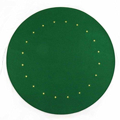 Gartenpirat Weihnachtsbaum-Unterlage grün rund Ø 90 cm mit 20 LED Bodenschutz Filz