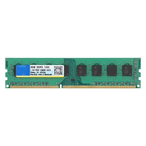 Topiky 8GB DDR3 1333Mhz 240Pin Banco de Memoria para computadora de Escritorio, 1.5V PC3-10600 DDRIII RAM Board Module para PC Motherboard