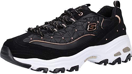 Skechers 13087-bkrg_39, Zapatillas Mujer, Black Rose Gold, EU