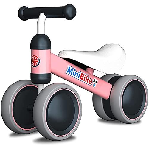 YGJT Vélo sans Pédales 1 an Vélo Bébé 10-18 Mois Draisienne Bébé Jeux Exterieur Enfant Jouet 1-2 Ans Premier Age Proteur Evolutive Bebe Mini Bike Cadeau Anniversaire Noel pour Garçons Filles