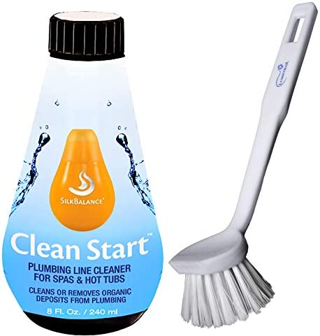 Silk Balance Clean Start 8 oz SPA Hot Tub Plumbing Line Cleaner Bundle with a Lumintrail Scrub product image