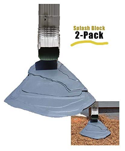 RockbloX Downspout Splash Protector Slate Grey (2 Pack)