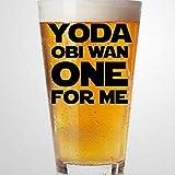 Yo-da OBI Wan One for Me Star Conflict - Copas de vino para marido, novio, pareja, esposa, Starwars
