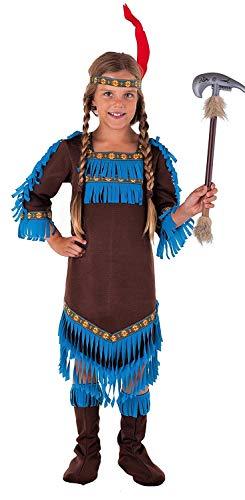Magicoo Königin Indianer Kostüm Kinder Mädchen Größen 110 bis 152 - Faschingskostüm Indianerin Kostüm (140/152)