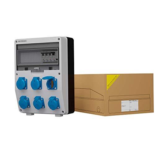 Stromverteiler IP54 DV TD-S/FI 6x230V Schuko Wandverteiler Baustromverteiler Steckdosenverteiler Doktorvolt 1769