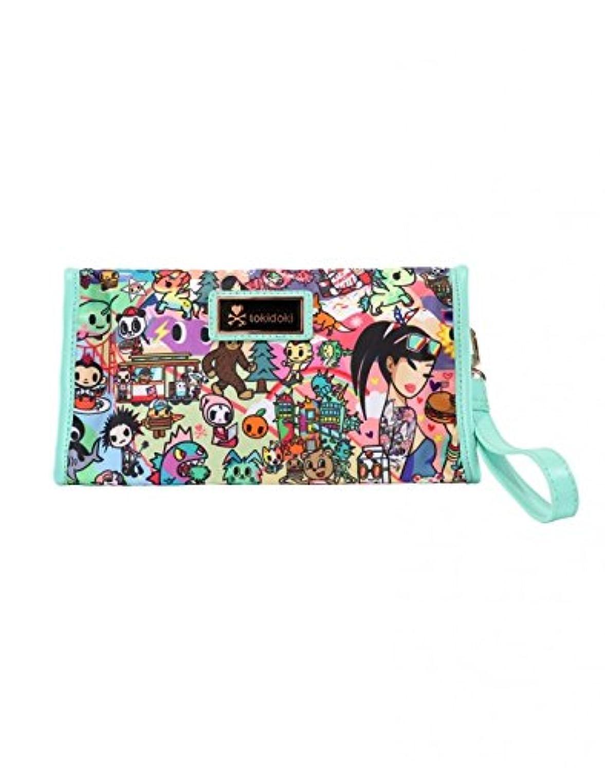 抽象爪救いTokidoki カリフォルニアドリーミング コスメポーチ リストバンド付きコスメティックバッグ California Dreamin' Wristlet Cosmetic Bag