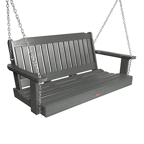 Highwood AD-PORL2-CGE Lehigh Porch Swing, 4 Feet, Coastal Teak