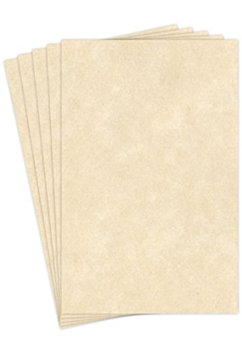 Natural Stationery Parchment Paper | 24 Lb Bond / 60 lb Text / 90 GSM Paper | 50 Sheets Per Pack | 11� x 17� Inches