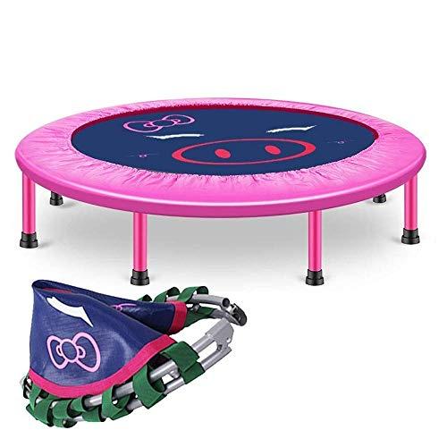 LSYOA Plegable Mini Trampolín, Portátil Cama elástica Infantil Interior/Exterior Trampolín de Jardín para niños Mayores de 3 años y Adultos Carga 250kg,Pink