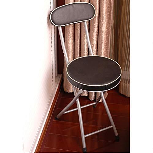 Lwcy opvouwbare bureaustoel, zwart/wit imitatieleer gevoerde eetstoel Eetstoel/studentenstoel