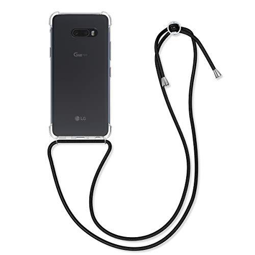 kwmobile Hülle kompatibel mit LG G8X ThinQ - mit Kordel zum Umhängen - Silikon Handy Schutzhülle Transparent