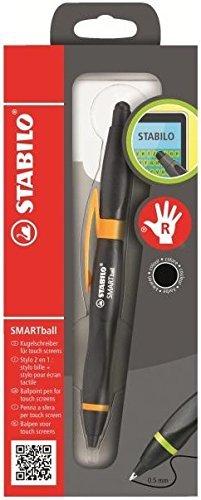 Stabilo SMARTball 2.0 Kugelschreiber für Rechtshänder, Tinte Schwarz, Stift Schwarz/Orange