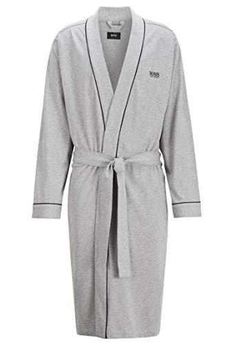 BOSS Herren Kimono BM Bademantel, Grau (Medium Grey 33), Small (Herstellergröße: S)
