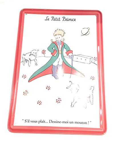 Editions Clouet, carte métal murale le petit prince moutons