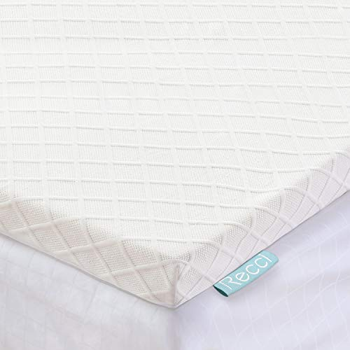 RECCI 2-Inch Mattress Topper Full, Pressure Relief Memory...