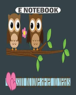 E Notebook: 3rd birthday party girl owl  College Ruled - 50 sheets, 100 pages - 8 x 10 inches