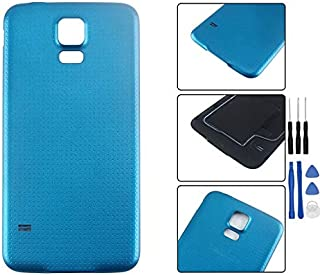 HYYT Replacement for Samsung S5(I9600V) Original Battery Housing Door Cover Back Case + A Set of Tools (Blue)
