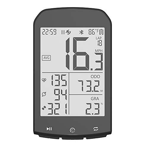 KADDGN Fahrradcomputer drahtloser Fahrradcomputer mit ANT + Cadence Geschwindigkeit Herzfrequenzsensor Wasserdicht Radcomputer Speedometer