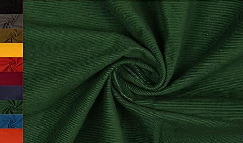 Stoffbook Tela de algodón de cord SOPO E311 (verde oscuro)
