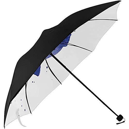 Regenschirm Kinderwagen Reise Kunst Anker Symbol Symbolisches Muster Unterseite Kompakter Regenschirm Golf UV Sonnenschirm Regenschirm Für Sonne Zusammenklappbarer Regenschirm
