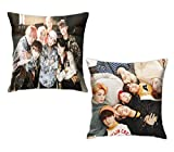 Batetel BTS Boyslying Down 2pcs 3D Printed Super Stars Pillowcase of Throw Pillow Cover for Sofa Office Decorative Pillowslip One Size