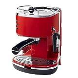 MKXF Machine Café, La Máquina Espresso Semiautomática, Una Máquina Puede Hacer Té con Múltiples Funciones, Operación De Un Solo Botón De La Máquina De Café (Color : Red)