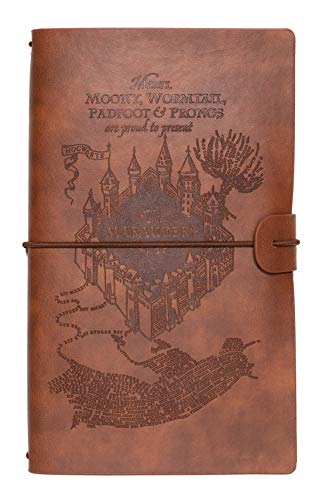 Grupo Erik Reisetagebuch zum Selberschreiben - Notizbuch Harry Potter - Dotted Notebook A5 Die Karte des Rumtreibers - Tagebuch A5