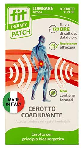 FIT Therapy Patch | Dispositivo medico. Cerotto Lombare | Allevia il dolore in caso di lombalgia, mal di schiena | 8 cerotti