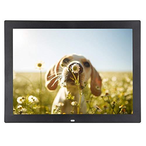 Bewinner 15\'\' Digital Photo Frame Tragbar HD 1024 * 768 Digitaler Bilderrahmen mit Fernbedienung IPS-Display Foto- / Musik- / Videoplayer-Kalenderalarm, Geschenk für Geburtstag, Hochzeit(Schwarz EU)