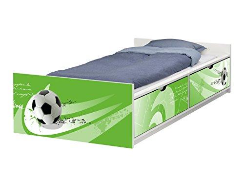 STIKKIPIX Fußball Möbelfolie | passend zum IKEA Kinderbett FLAXA | passgenaue Klebe-Folie für Schubkästen und Stirnseite | FLX06 | Möbel Nicht Inklusive