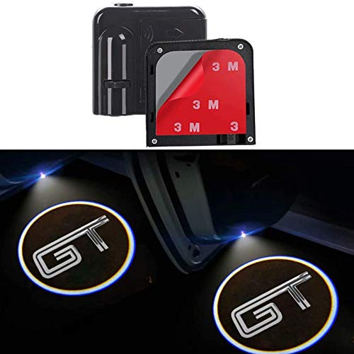 2Pcs for Car Door Lights Logo for Mustang GT, Car Door Led Projector Lights Shadow Ghost Light,Wireless Car Door Welcome Courtesy Lights Logo for All Car Models (for GT)