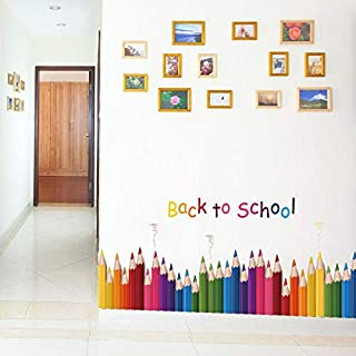 ملصقات جدارية ملونة، مناسبة لغرف الأطفال، ملصقات جدارية بألوان متعددة لغرف الأطفال، ملصقات جدارية فنية لغرف الأطفال، ملصقا...